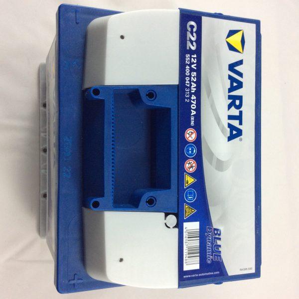 BATTERIA VARTA 12V 52AH 470A(EN) C22-