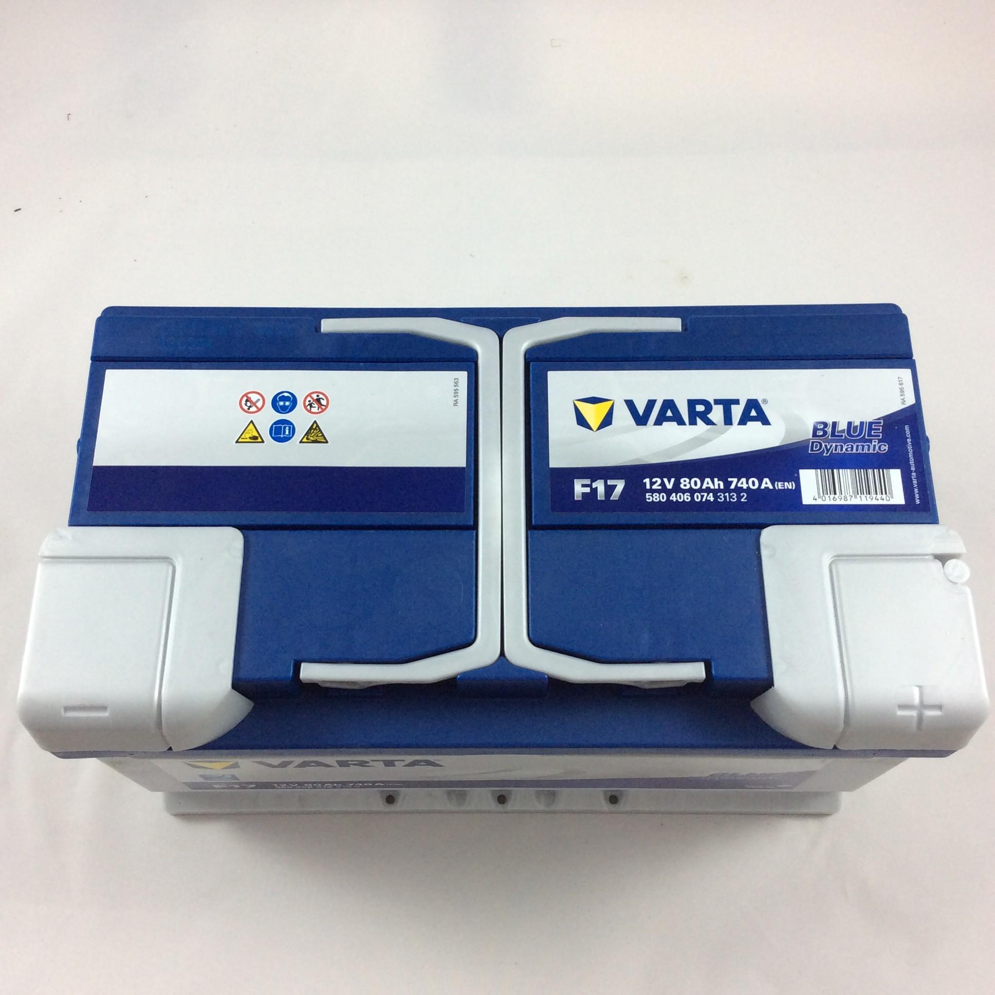 BATTERIA VARTA 12V 80AH 740A(EN) F17-