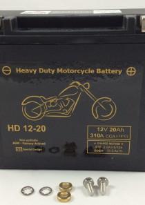 BATTERIA MOTO HARLEY DAVIDSON 12V 20AH 310CCA HD12-20 BM720