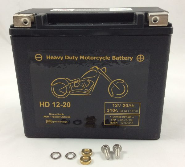 BATTERIA MOTO HARLEY DAVIDSON 12V 20AH 720CCA HD12-20 BM720