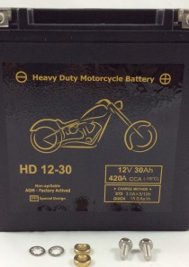 BATTERIA MOTO HARLEY DAVIDSON 12V 30AH 420CCA HD12-30 BM730