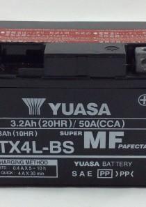 BATTERIA MOTO-SCOOTER YUASA 12V 3AH YTX4L-BS