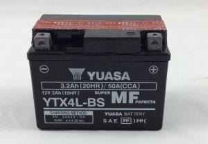 BATTERIA MOTO- SCOOTER YUASA 12V 3AH YTX4L-BS