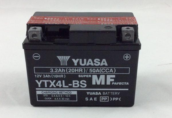 BATTERIA MOTO-SCOOTER YUASA 12V 3AH YTX4L-BS (AC)