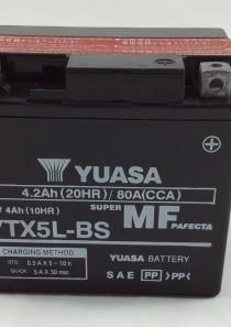 BATTERIA MOTO-SCOOTER YUASA 12V 4AH YTX5L-BS (AC)