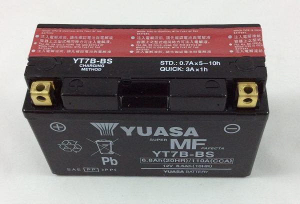 BATTERIA MOTO-SCOOTER YUASA 12V 6.5AH YT7B-BS-