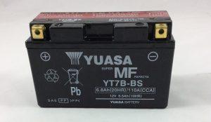 BATTERIA MOTO-SCOOTER YUASA 12V 6.5AH YT7B-BS
