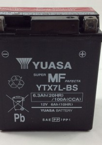 BATTERIA MOTO-SCOOTER YUASA 12V 6AH YTX7L-BS (AC)