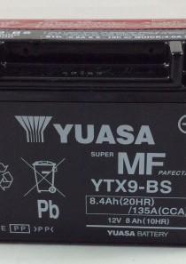 BATTERIA MOTO-SCOOTER YUASA 12V 8AH YTX9-BS (AC)