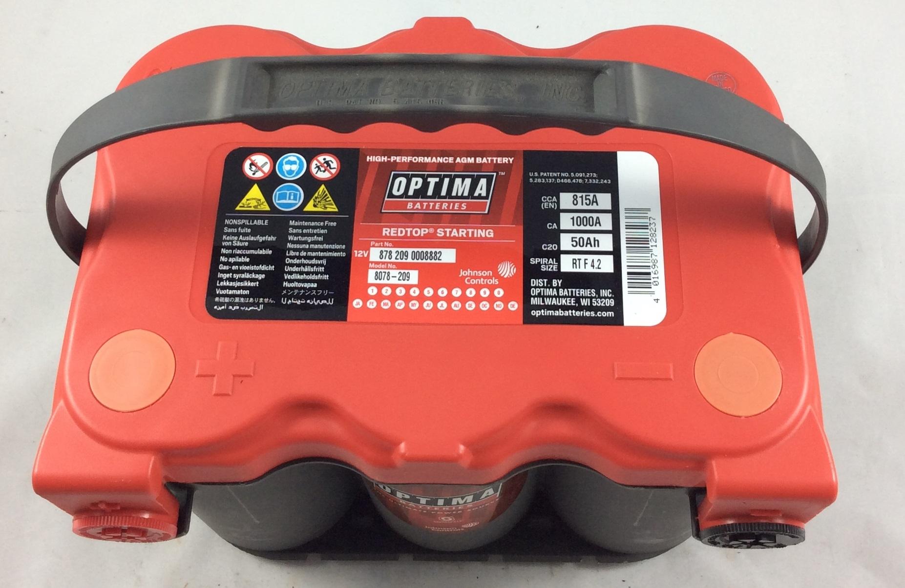 BATTERIA OPTIMA 12V 50AH 815A(EN) RTF 4.2