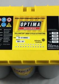 BATTERIA OPTIMA 12V 75AH 975A(EN) YTS5.5