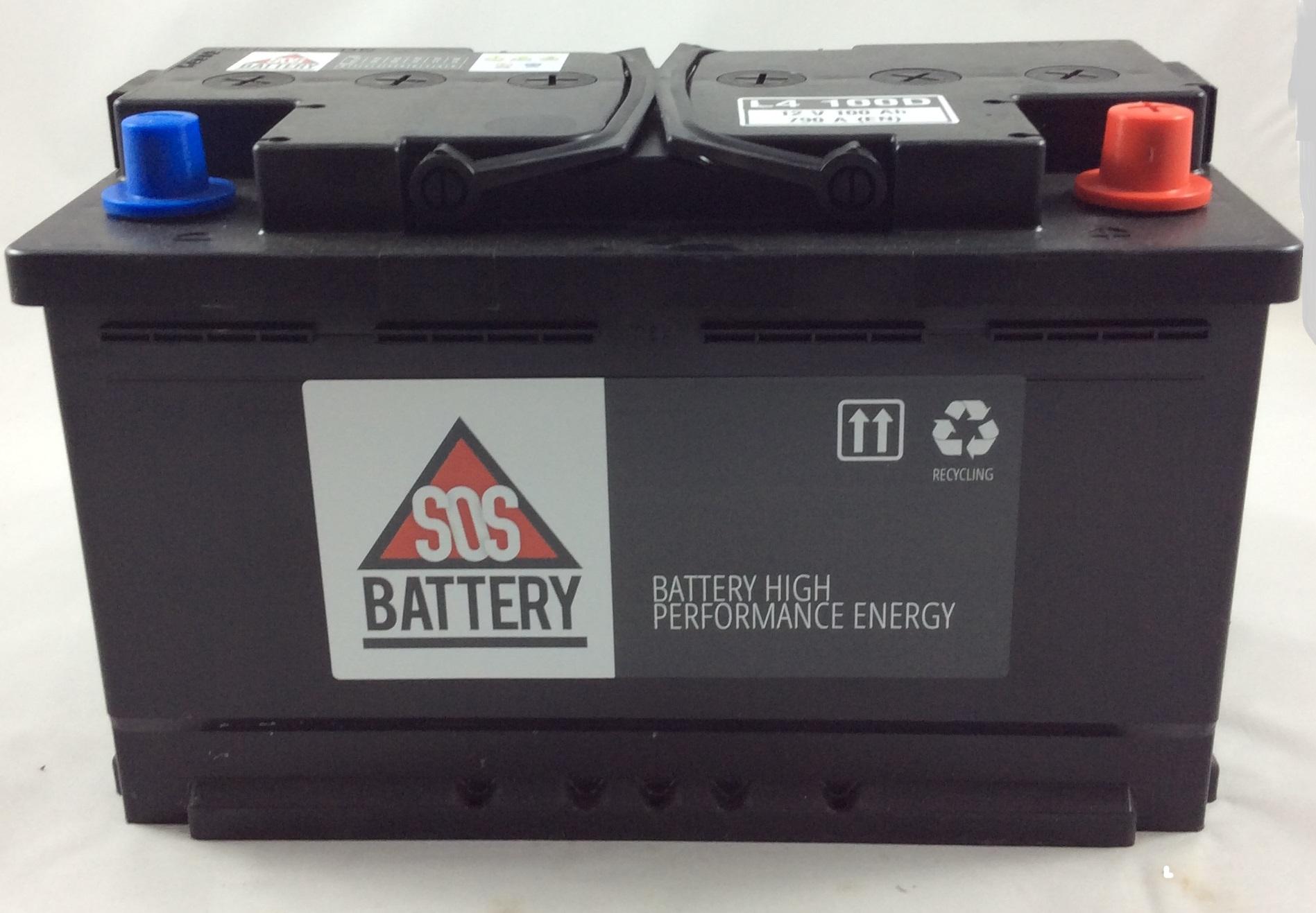 BATTERIA SOS BATTERY 12V 100AH 790A(EN) L4100D-