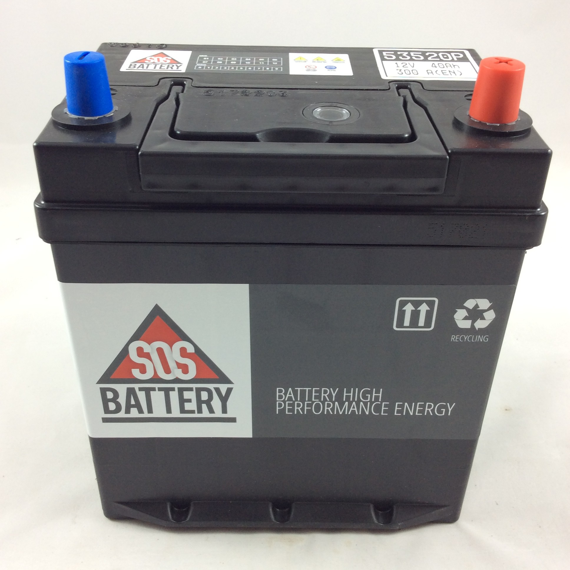 Batteria sos battery 12v 40ah 320a en 53520p sos for Bricoman batteria 12v