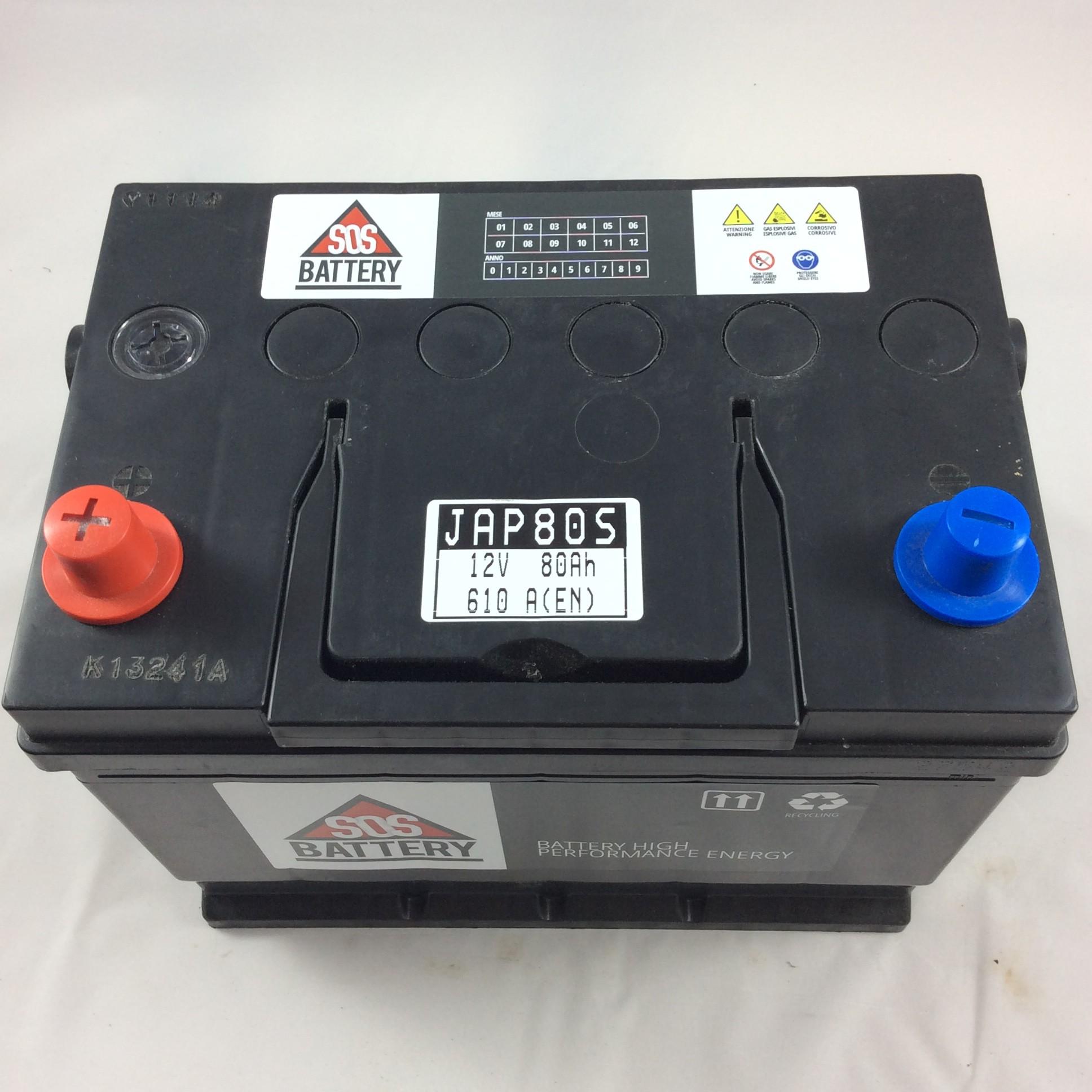 batteria sos battery 12v 80ah 640a en jap80s sos battery vendita batterie online a prezzi. Black Bedroom Furniture Sets. Home Design Ideas
