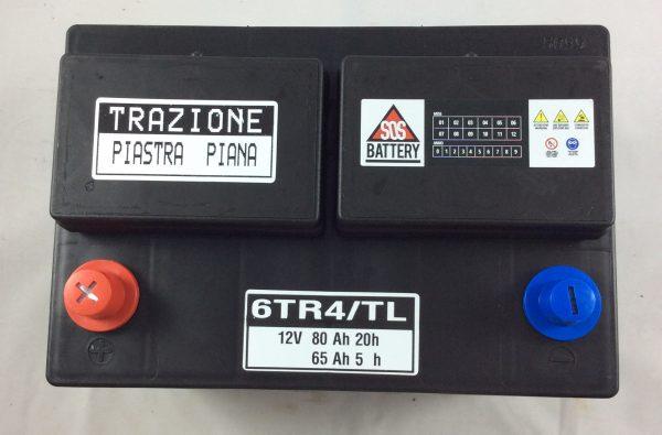 BATTERIA TRAZIONE LEGGERA 12V 80AH 6TR4-TL