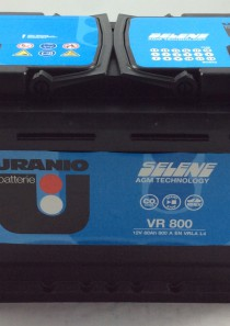 BATTERIA URANIO START E STOP 12V 80AH 800A(EN) VR800