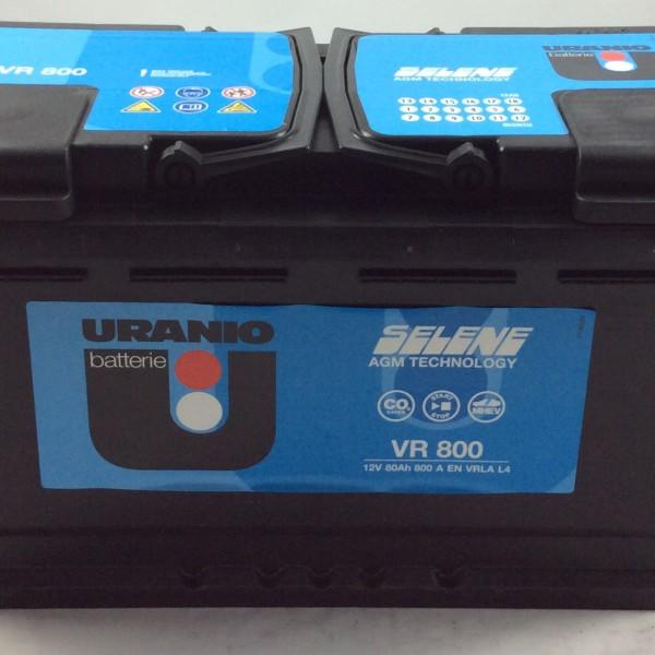 batteria uranio start e stop 12v 80ah 800a en vr800 sos battery vendita batterie online a. Black Bedroom Furniture Sets. Home Design Ideas