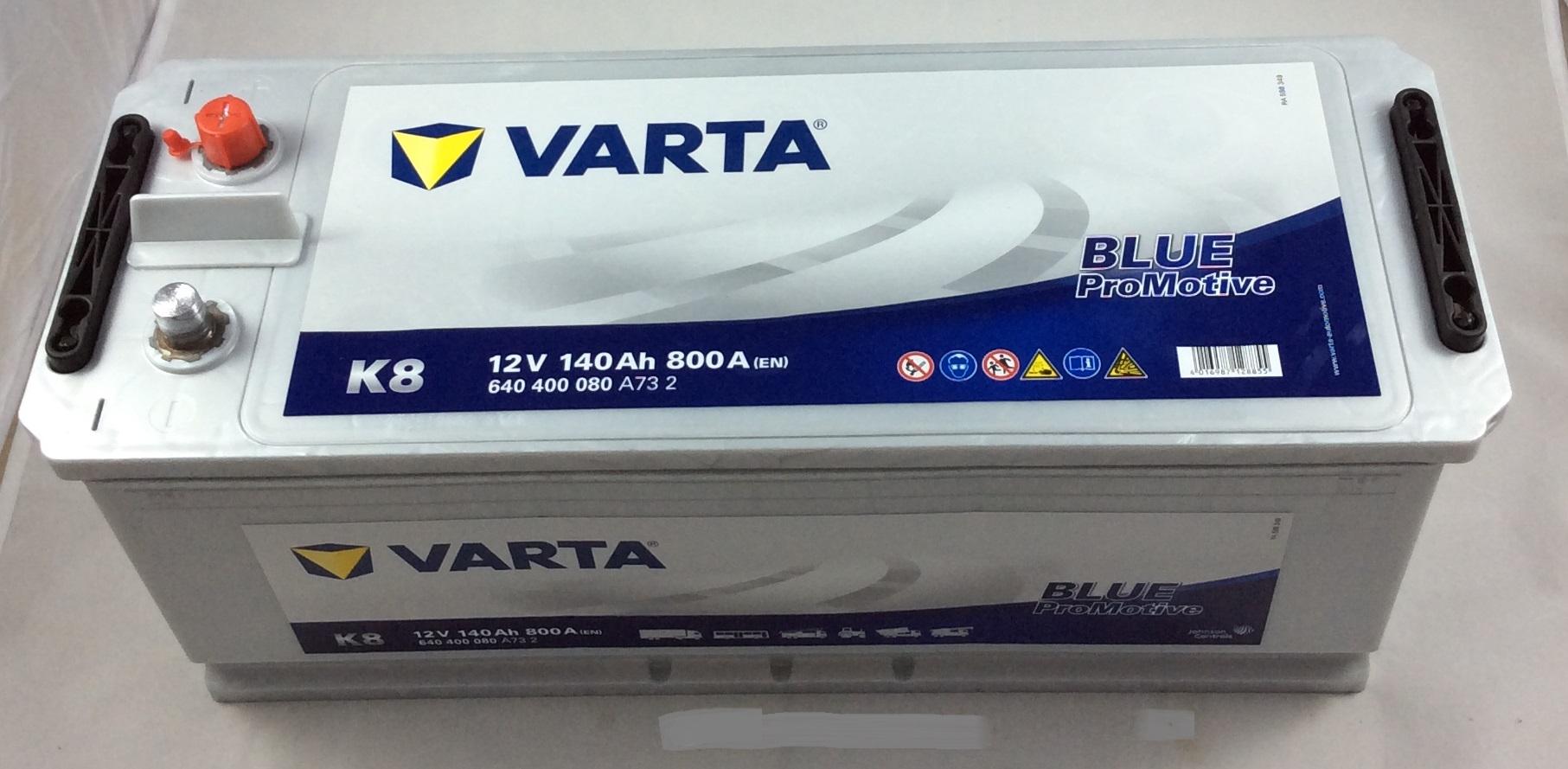 BATTERIA VARTA 12V 140AH 800A(EN) K8