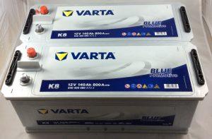 COPPIA BATTERIE VARTA 12V 140AH 800A(EN) K8