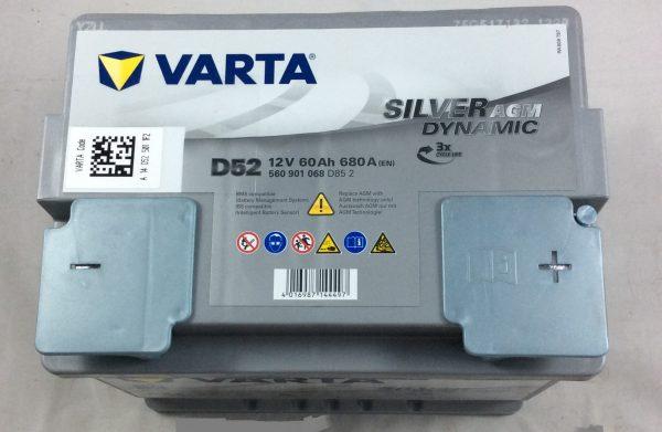 BATTERIA VARTA 12V 60AH 680A(EN) D52