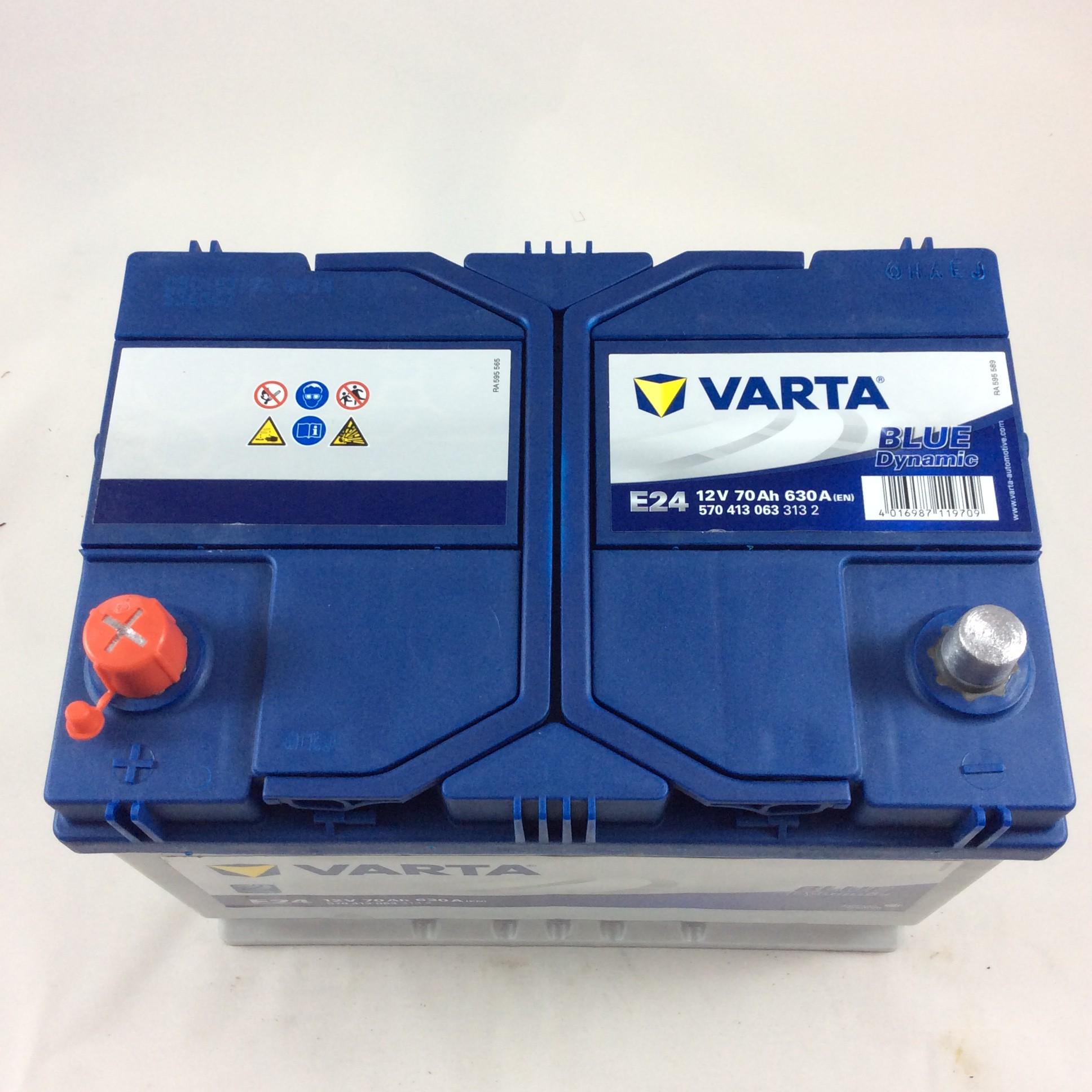 BATTERIA VARTA 12V 70AH 630A(EN) E24-