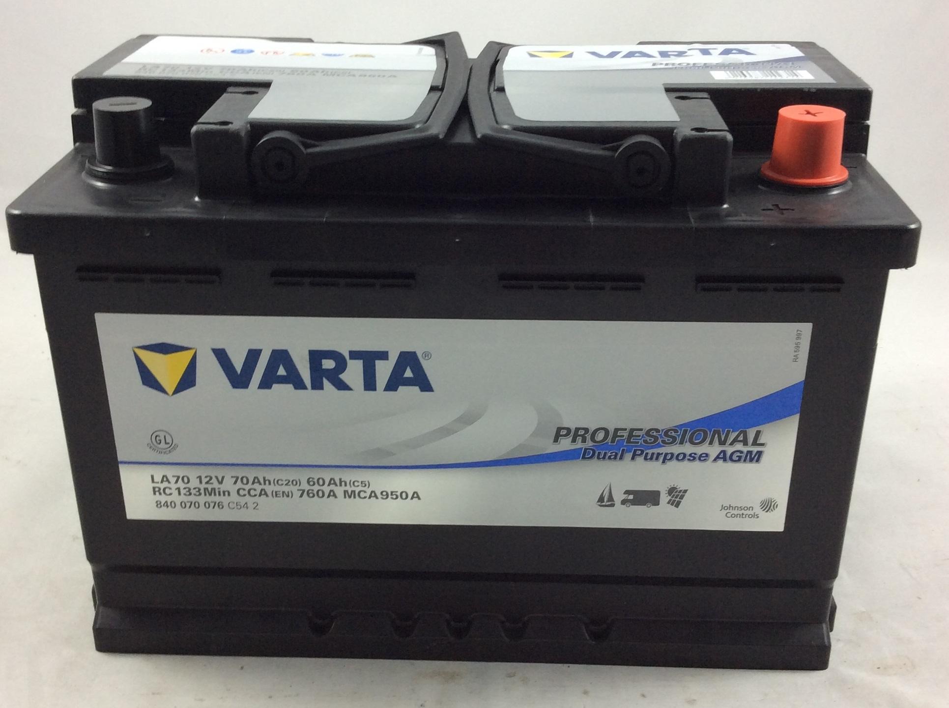 BATTERIA VARTA PROFESSIONAL 12V 70AH 760A(EN) LA70