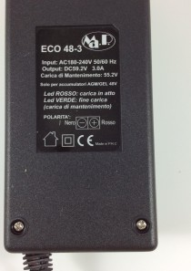 CARICABATTERIE MANTENITORE CB ECO 48-3 (48V 3AH)
