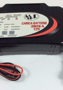 CARICABATTERIE MANTENITORE AUTO/MOTO/SCOOTER SW 2-8-16 (12V 2-8-16AH)