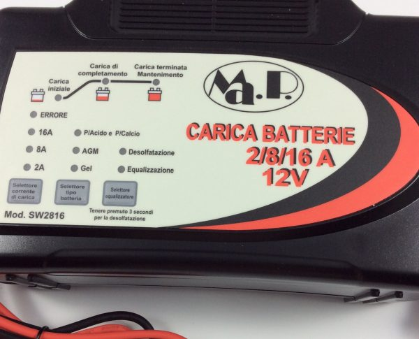 CARICABATTERIE SW 2-8-16 (12V 2AH- 8AH - 16AH)