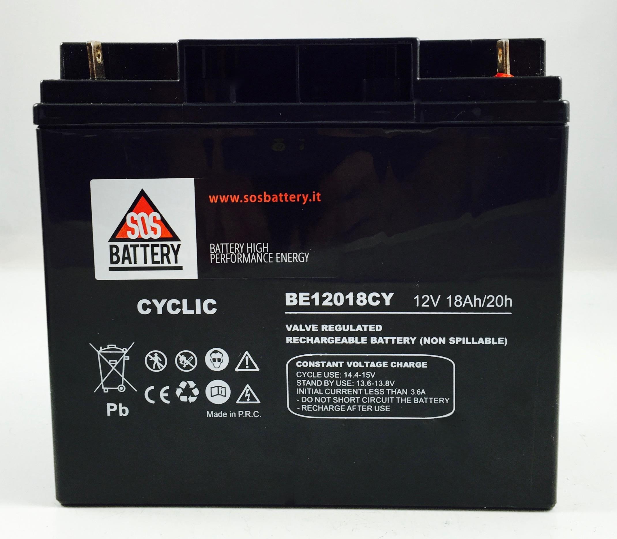 12v 18ah Battery >> BATTERIA AGM 12V 18AH BE12018CY   Sos Battery vendita ...