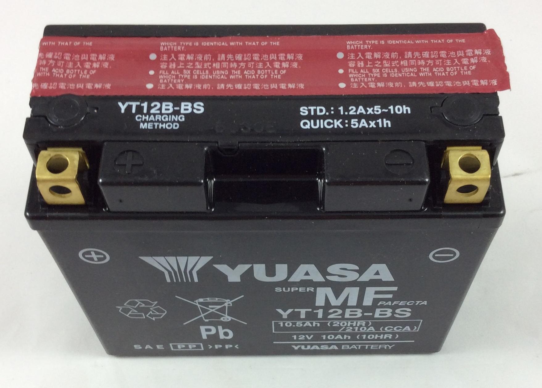BATTERIA MOTO SCOOTER YUASA 12V 10AH YT12B-BS (AC)