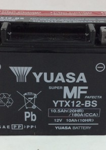BATTERIA MOTO-SCOOTER YUASA 12V 10AH YTX12-BS