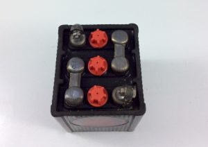 batteria moto d'epoca in ebanite 6v 6ah b49-6/eb