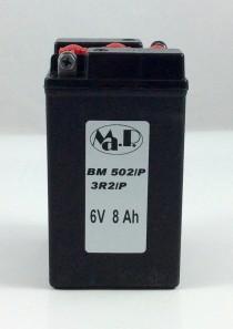 BATTERIA MOTO D'EPOCA 6V 8AH 3R2/P (BM502/P)