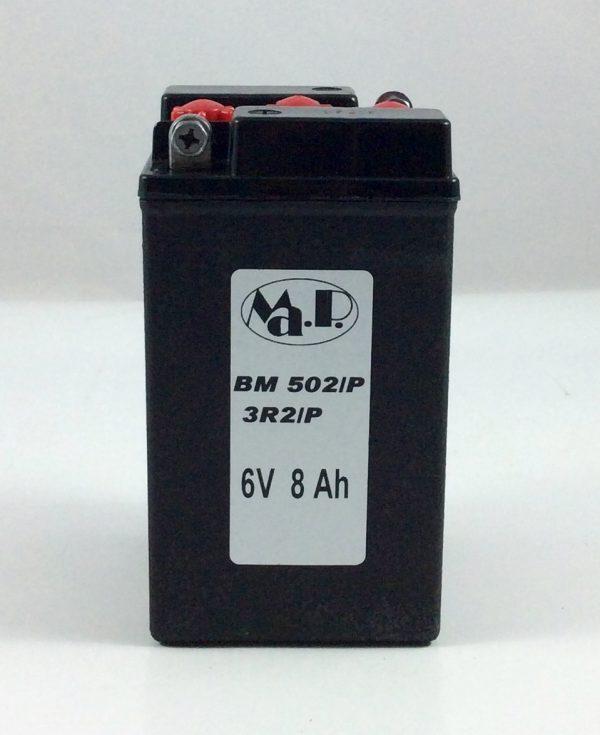 BATTERIA MOTO D'EPOCA 6V 8AH BM502/P