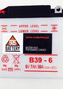 BATTERIA MOTO D'EPOCA 6V 7AH B39-6 (BM104)