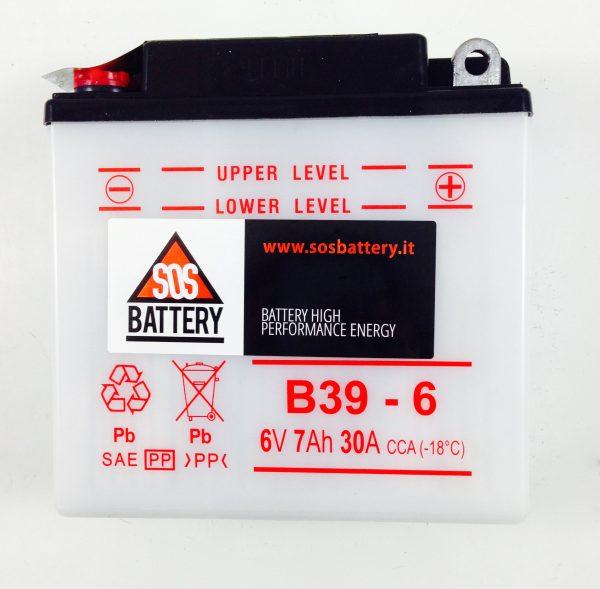 BATTERIA MOTO D'EPOCA 6V 7AH BM104