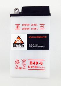 BATTERIA MOTO D'EPOCA 6V 8AH B49-6 (BM105)