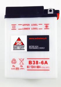 BATTERIA MOTO D'EPOCA 6V 13AH B38-6A (BM107)