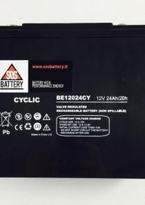 BATTERIA PER BICICLETTA ELETTRICA AGM 12V 24AH BE12024CY