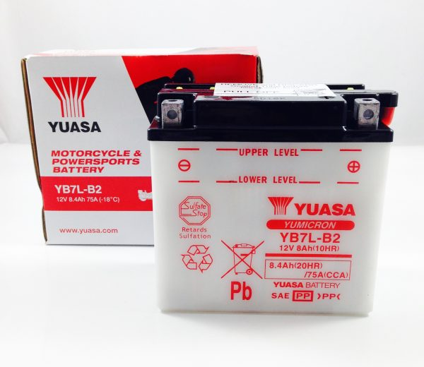 BATTERIA MOTO-SCOOTER YUASA 12V 8AH YB7L-B2