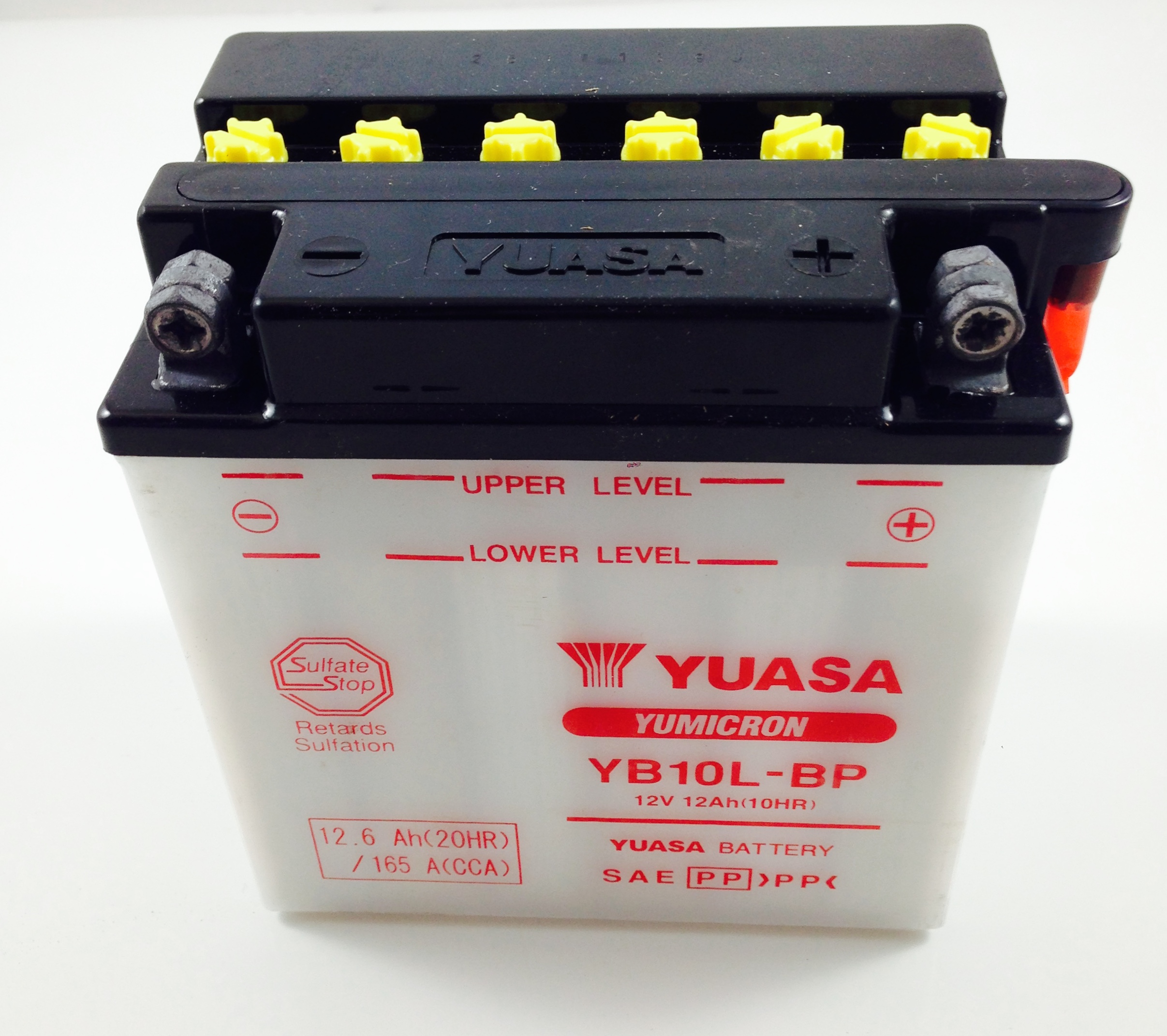 Batteria moto scooter yuasa 12v 12ah yb10lb p sos for Bricoman batteria 12v