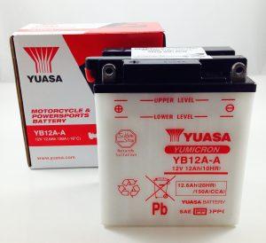 BATTERIA MOTO-SCOOTER YUASA 12V 12AH YB12A-A