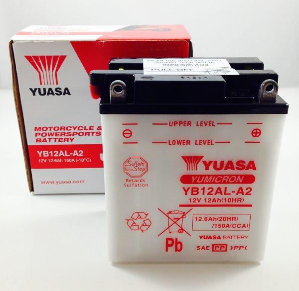 BATTERIA MOTO-SCOOTER YUASA 12V 12AH YB12AL-A2