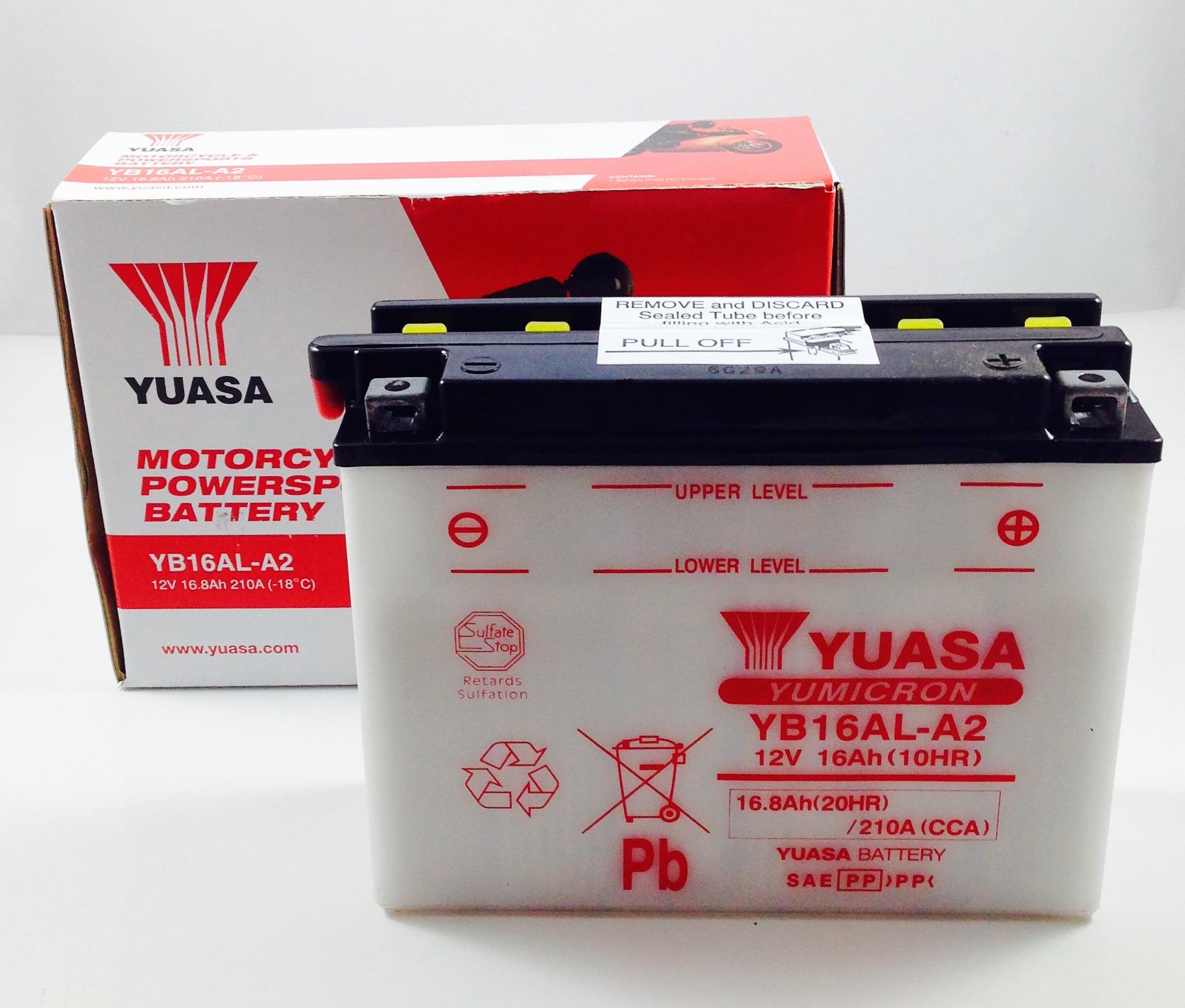 BATTERIA MOTO-SCOOTER YUASA 12V 16AH YB16AL-A2