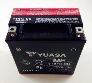 BATTERIA MOTO-SCOOTER YUASA 12V 14AH YTX16-BS SIGILLATA