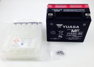 BATTERIA MOTO-SCOOTER YUASA 12V 18AH YTX20L-BS SIGILLATA