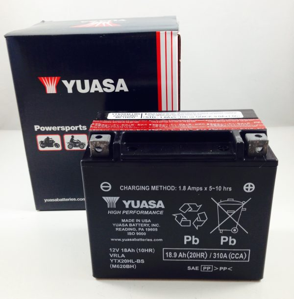 BATTERIA MOTO-SCOOTER YUASA 12V 18AH YTX20HL-BS SIGILLATA HIGH PERFORMANCE