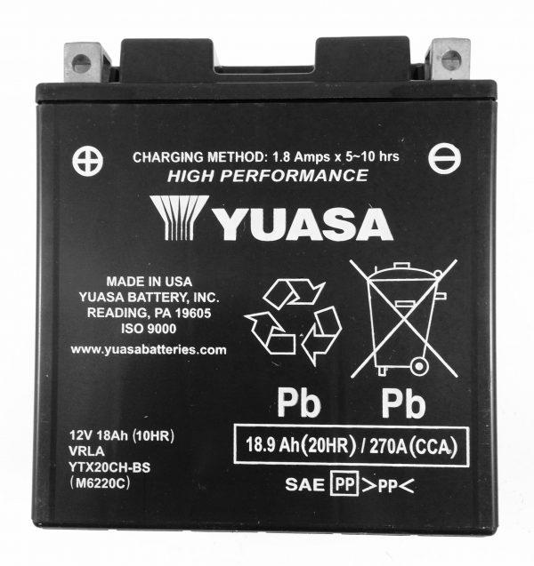 BATTERIA MOTO-SCOOTER YUASA 12V 18AH YTX20CH-BS SIGILLATA HIGH PERFORMANCE