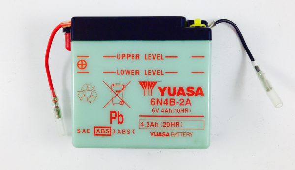 BATTERIA MOTO-SCOOTER YUASA 6V 2AH 6N4B-2A